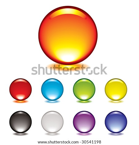 round gel button icon with glow and drop shadow