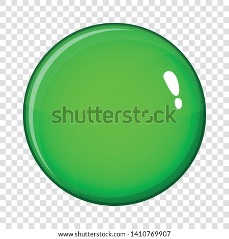 Round glossy button icon. Cartoon illustration of round glossy button vector icon for web