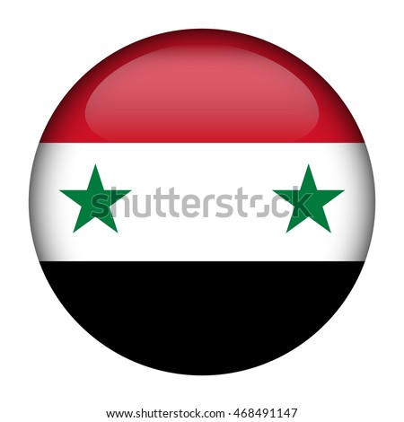 round glossy button with flag