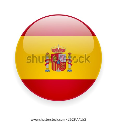 round glossy vector icon with