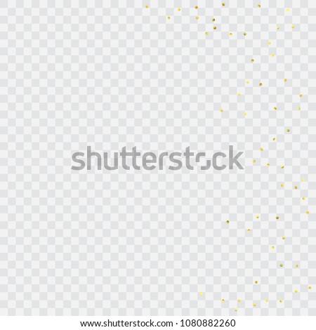 round gold confetti celebrate