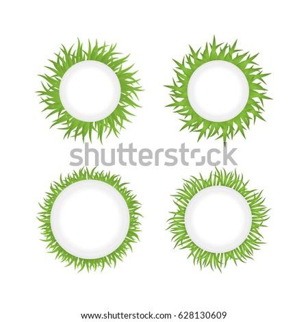 round grass frame set of four