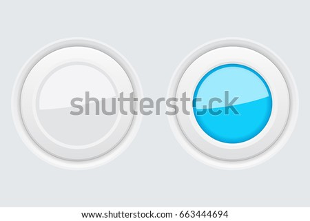 Round gray buttons. Vector 3d illustration