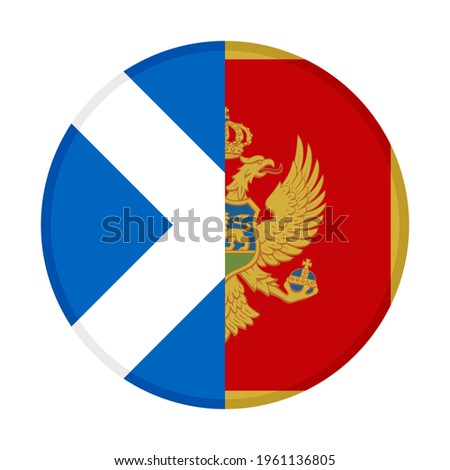 round icon with scotland and