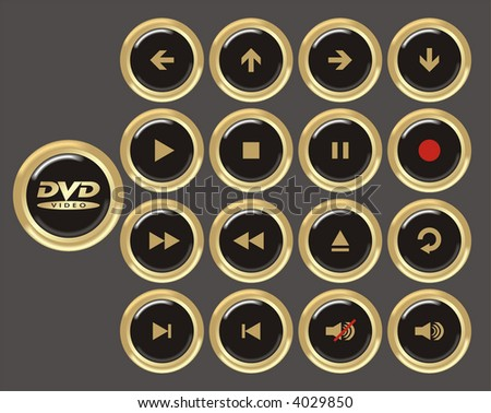 round icons in black and gold