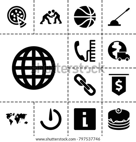 round icons set of 13 editable