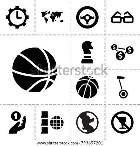 round icons set of 13 editable