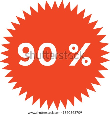 round illustration icon decorated with many thorns with 90% discount writing