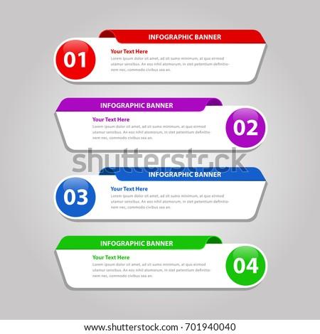Round Infographic Banner - vector design