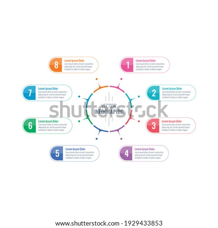 round infographic template. eight steps information template. annual report, internet, magazine, web infographic template Photo stock ©