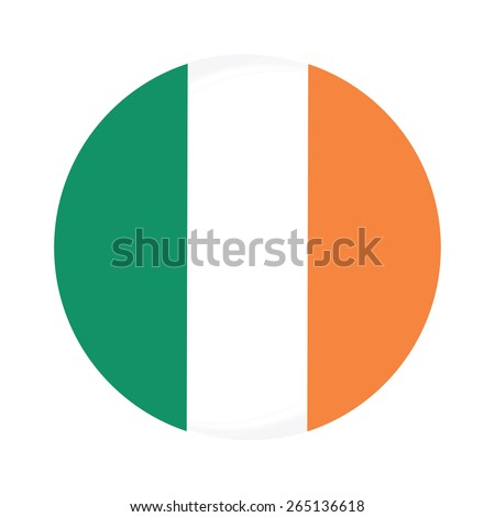 round ireland flag vector icon