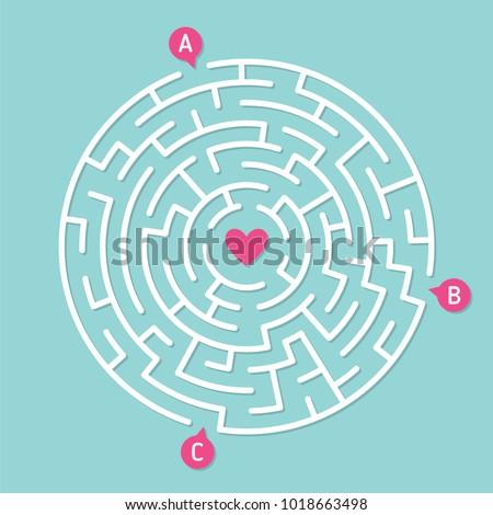 round labyrinth maze game  find