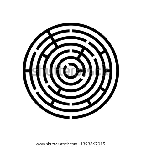 Round labyrinth maze game vector illustration EPS10