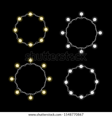 round lamp garlands with yellow