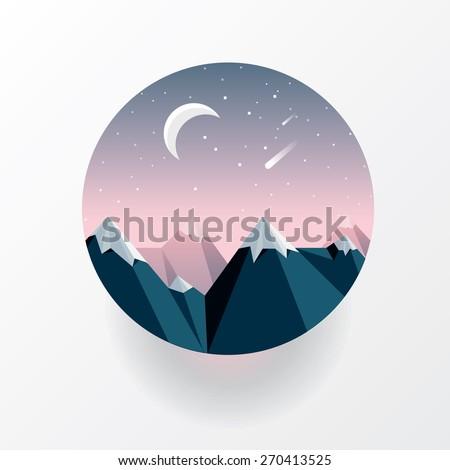 round landscape icon in