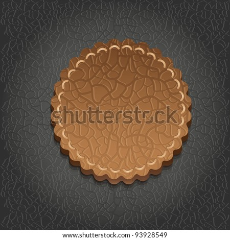 round leather label  - vector illustration