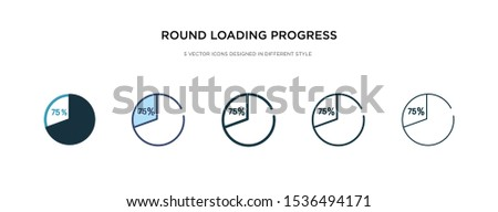 round loading progress icon in