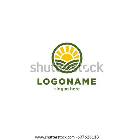 round logo for organic farms...