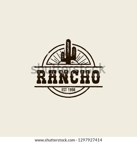 round logo ranch with a picture