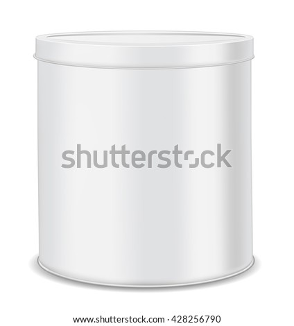 round metal can for food