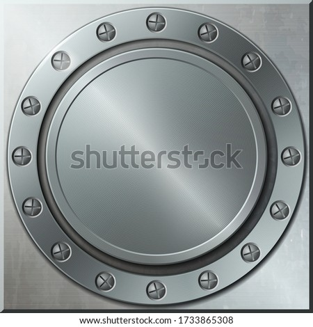 round metallic background and