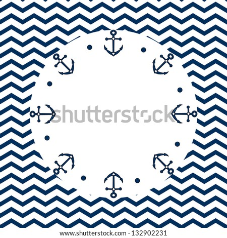 Anchor Chevron Wallpaper On a chevron background,