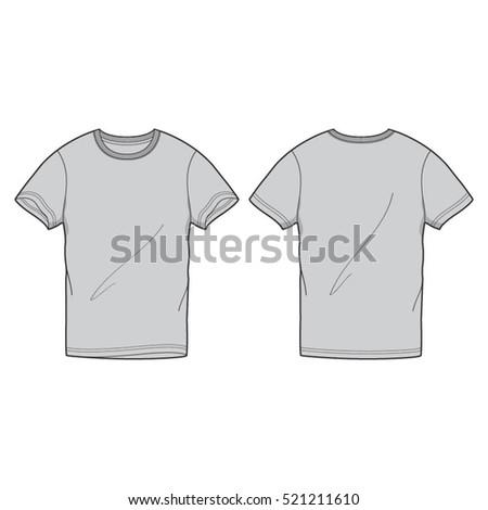 Round Neck Tee Shirt Template