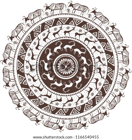 round ornamental pattern with