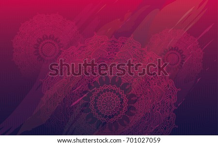 Round Ornate Henna Mandala Design Background