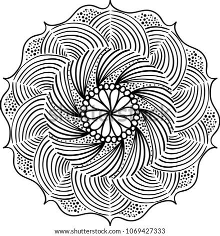 Round Pattern Mandala. Abstract design of Persian- Islamic-Turkish-Ara bic vector circle floral ornamental border .