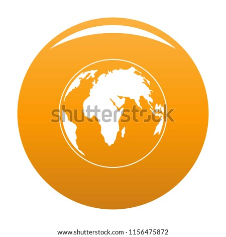 Round planet icon. Simple illustration of round planet vector icon for any design orange
