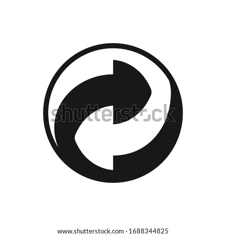 round recycling symbol  two