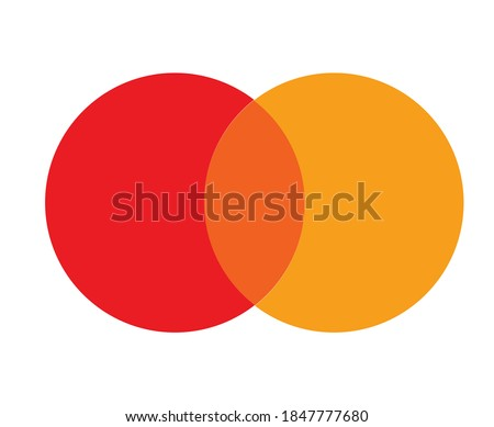 round red orange color pallet vector template Сток-фото ©