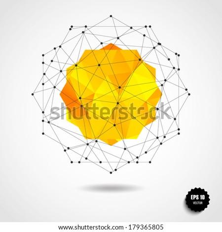 round shape made of triangle