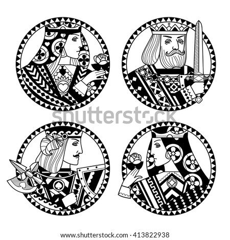 round shapes with faces of