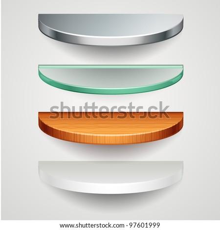 round shelves