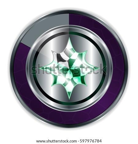 round shield in progress frame