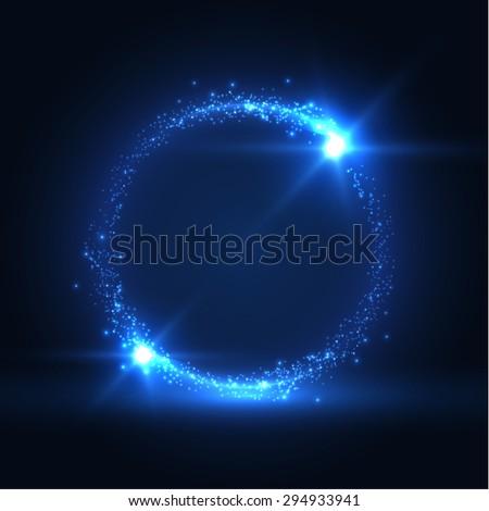 round shiny frame background