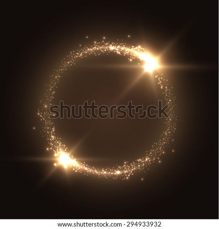 round shiny frame background