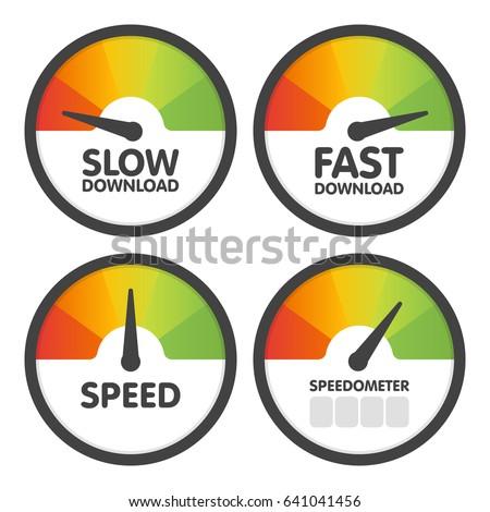 round speedometers set with