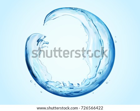 round sphere made of flowing