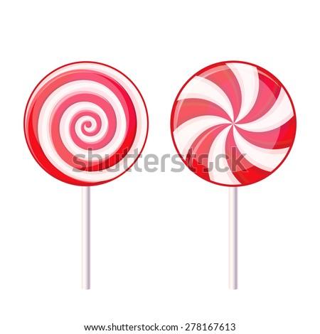 round spiral candy lollipop