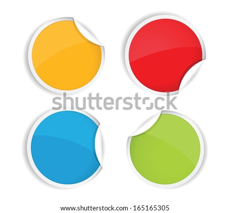 Round Stickers Design Elements #165165305