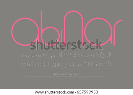 round style alphabet letters