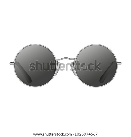 Round sunglasses isolated vector graphic