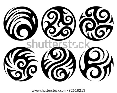 circular tribal tattoo clipart library. Black Bedroom Furniture Sets. Home Design Ideas