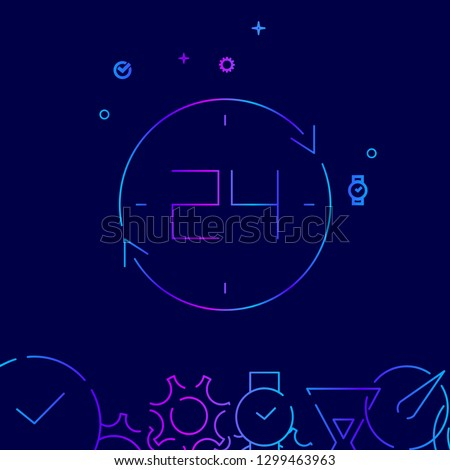 round the clock vector line