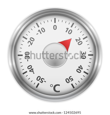 Round thermometer, vector eps10 illustration