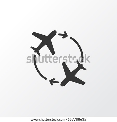 Round Trip Icon Symbol. Premium Quality Isolated Fly Around And Round Trip Icon Element In Trendy Style.