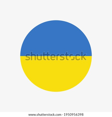 Round ukrainian flag vector icon isolated on white background. The flag of Ukraine in a circle. Foto stock ©